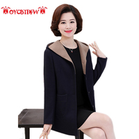Autumn Coat Women 2018 Fashion New Solid Color Large Size Mid Long Section Single breasted High Quality Women Woolen Coat Ll273