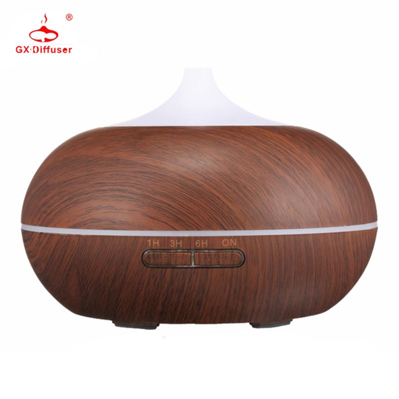 GX Diffuser 300ml Aroma Diffuser Ultrasonic Humidifier with LED Aroma Lamp Essential Oil Air Purifier Aromatherapy Mist Maker aroma diffuser atomizer air humidifier led ultrasonic purifier fragrant 300ml pp y05 c05