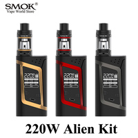 Vape 100 Original SMOK 220W Alien Kit Electronic Cigarette 18650 Battery Mech Mod With TFV8 Baby