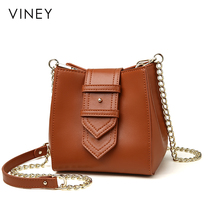 Viney Baggage Girl 2019 New Net Red Leisure Slant Baggage Korean Edition Fashion Bucket Single Shoulder Bag