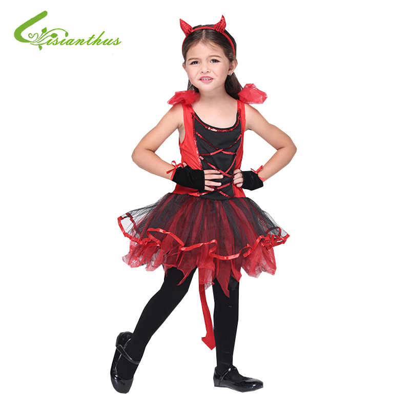 Halloween For Girls Children Latin Dance Costumes Dress + Headwear + Glove Party Dresses Christmas Costume Fancy Clothing Set pegasus girls sexy latin dance dress fashion female dance dress1448 new clothes and costumes