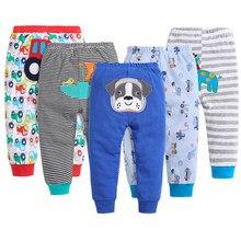 Criança calças de comprimento total do bebê recém-nascido outono trajes algodão infantil menina meninos roupas unisex meados cintura personagem calças