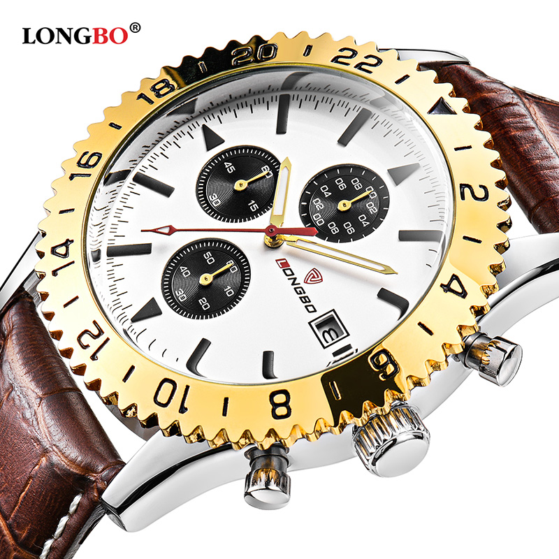 LONGBO Brand Luxury Casual Hollow Out Dial Unique Design Watches Leather Date Calendar Men Waterproof Wrist Watches Gift 3002 longbo brand new arrival leisure business series watches leather date calendar men waterproof wrist watches 3015