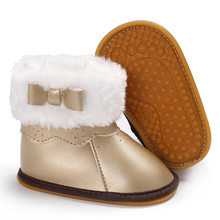 6eb4aac6868 Raise Young PU Leather Winter Plus Velvet Warm Baby Girl Booties Rubber  Soles Plush Toddler Girl Snow Boots Newborn Infant Shoes