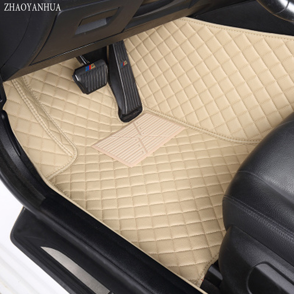 ZHAOYANHUA Car floor mats Case for Skoda Octavia Superb Yeti Fabia spaceback 5D heavy duty car styling carpet floor liner