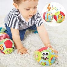 Música suave Bola Brinquedos Do Bebê Recém-nascido 0-12 Meses Animal Dos Desenhos Animados Da Criança Do Bebê Do Chocalho Do Bebê Bola Brinquedo Do Edifício Do Corpo brinquedos educativos