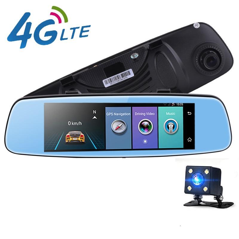 Best 8,0 ips Touch Автомобильный видеорегистратор зеркало gps Android 5,0 зеркало заднего вида WI FI dvr Камера 16 г два объектива dvr регистраторы парковка бес