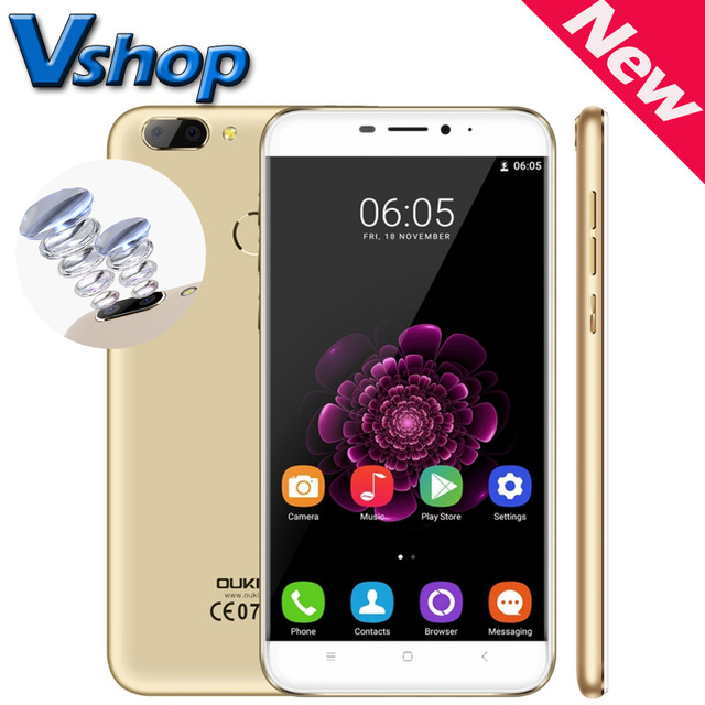 "Original OUKITEL U20 Plus 4G Mobile Phone Android 6.0 MTK6737T Quad Core 2GB/16GB 5.5"" 1920x1080 Fingerprint Dual SIM Smartphone"