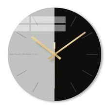 Wall clock Minimalist quartz watch elegant Clocks Home Decoration Living Room Silent 12 inch