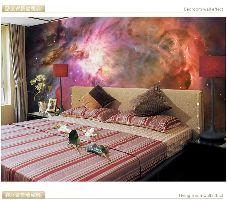 Mural starry sky background 3D 3D wallpaper murals Nebula large living room TV personali ...