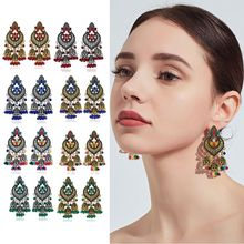 2019  NEW 1 Pair Retro Indian Bollywood Kundan Jhumka Jhumki Drop Earrings Gypsy Fashion Jewelry