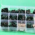 SM2.54 наборы 40 комплектов комплект 2p 3p 4p 5p 6p шаг женский и мужской разъем электрические клеммы с коробкой 2,54 мм кабель Разъем - фото