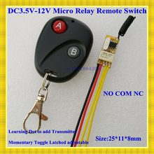 DC3V 3.6V 3.7V 5V 6V 7.4V 9V 12V Mini Relay Wireless Switch Remote Control Power LED Lamp Controller Micro Receiver Transmitter(China)