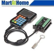 Controlador cnc bordado nch02 ncd02, controlador cnc de 3/4/5 eixos, pingente offline, sistema de controle de movimento 125 khz, pulso u ler disco G CODE
