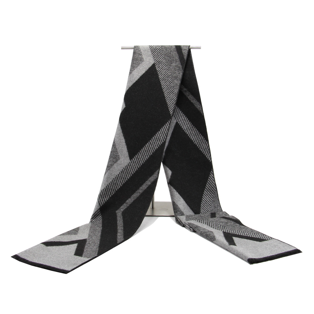 New Cashmere Scarf Designer Geometric Printed Men's Thicken Warm Cape Long Shawl Brand Shawls And Scarves Warm Pashmina Echarpes