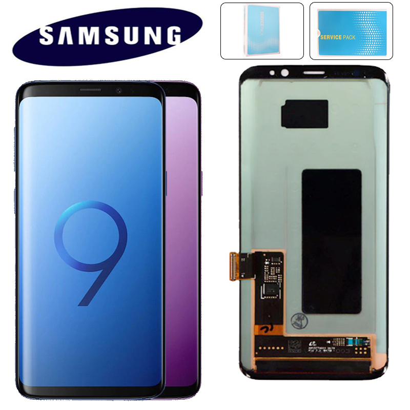 ORIGINAL SUPER AMOLED Replacement for SAMSUNG Galaxy S9 LCD Touch Screen Digitizer with Frame S9 Plus