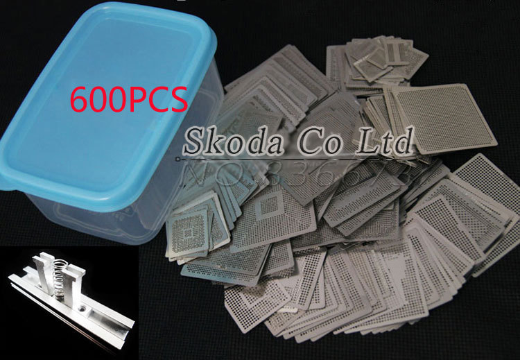 Free shipping 600 mould/set BGA stencil Direct Heating Reballing stencil+jpg+box for Bga Reballing Stencil Kit new 600pcs set bga stencil bga jig direct heating box for bga reballing stencil kit bga reballing kit