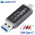 LEIZHAN Type-C OTG USB 3.0 Flash Drive 64G Pen Drive 32G 16G Pendrive Smart Phone Memory USB Stick Type - C 3.1 Dual Double Plug