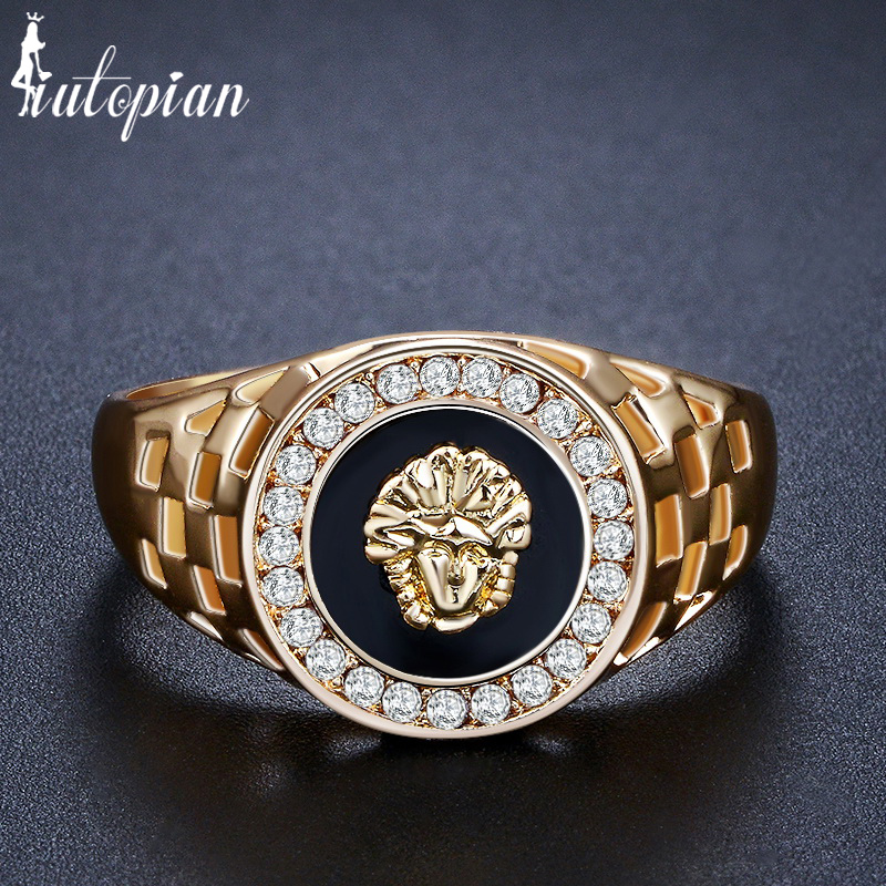 Iutopian Brand Fashion Jewelry Lion King Amazing Man Made Rings Anels For Men and Women European Hero Style