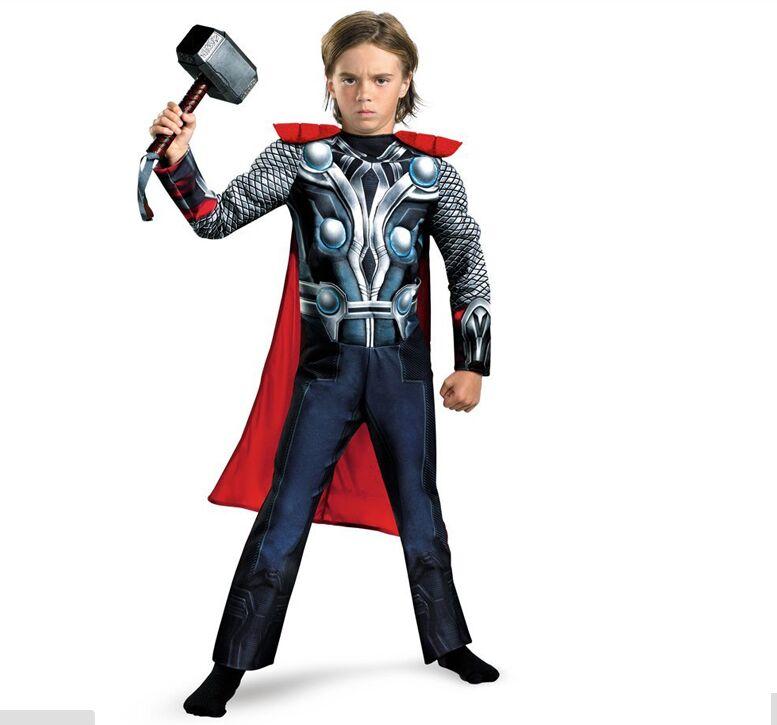 Bambini festa di compleanno di fantasia vestito operato Precipitò The Avengers Thor Classic Muscle Dei ragazzi dei Bambini di Halloween di carnevale Costumi del film