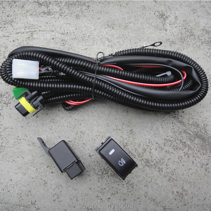 fog light wiring harness socket wire led indicators switch & relay h11 for  ford ranger for