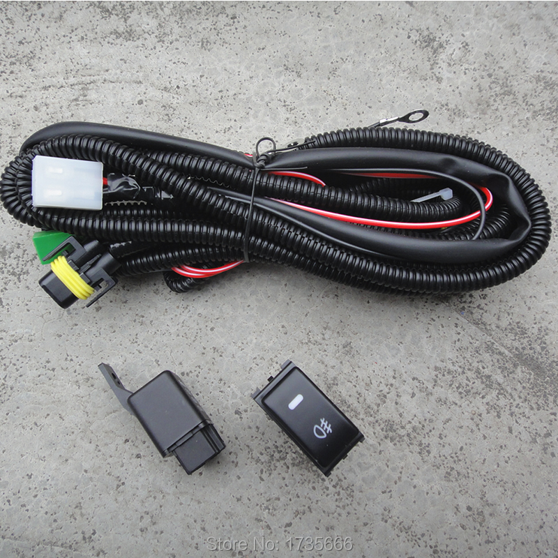 Fog Light Wiring Harness Socket Wire LED indicators Switch & Relay H11 For Ford Ranger For Suzuki Swift 09-13 For Nissan Murano