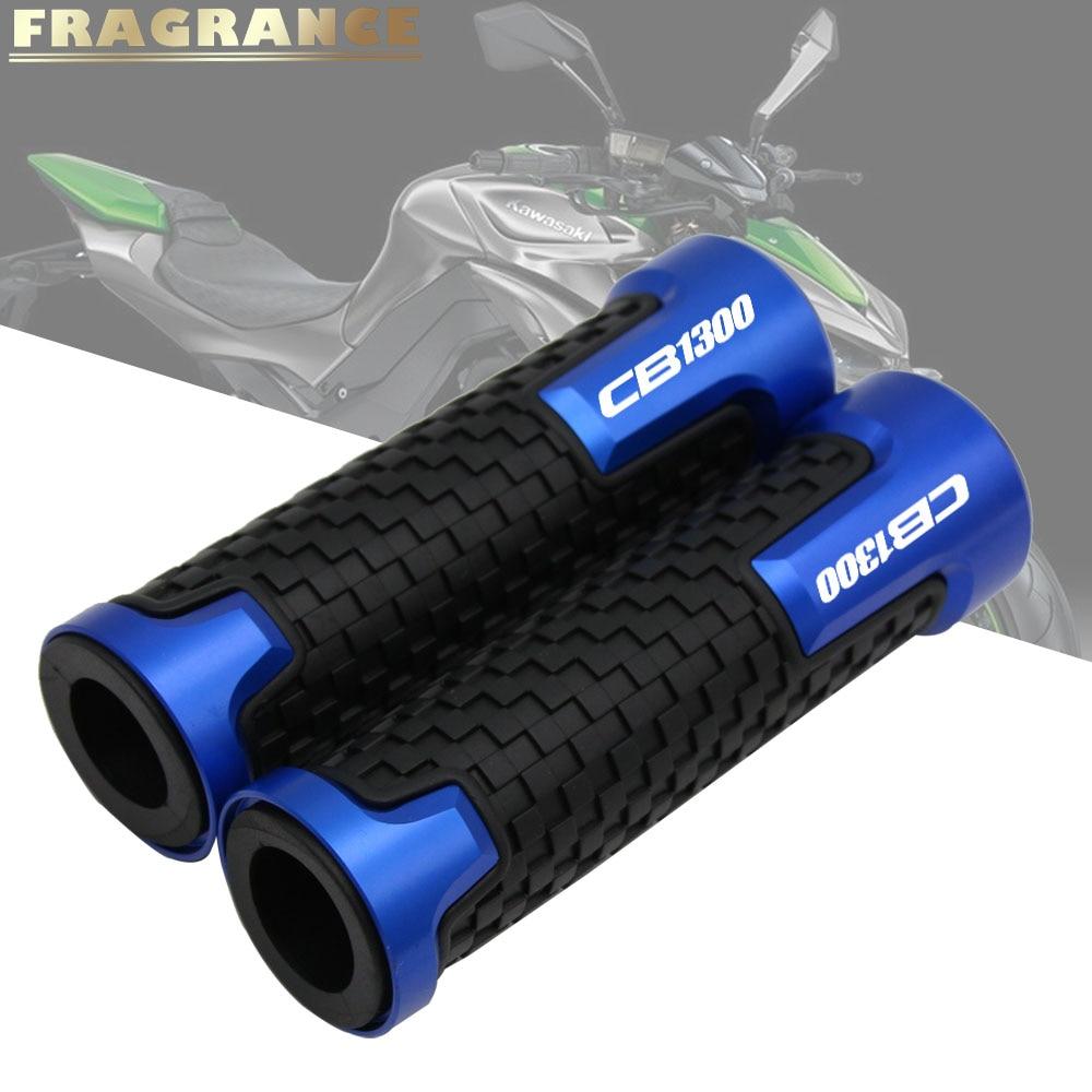 For HONDA CB1000 CB1300 X4 CB 1300 Universal 22mm 7/8'' CNC Aluminum Rubber Motorcycle Anti-Skid Handle Grips Grips Handlebar