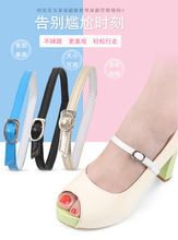 Cowhide high heels lace lazy bundle foot care  women do not follow the around ankle with buckle flat tied white round off
