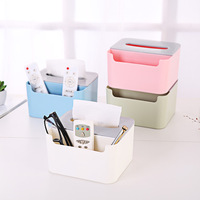 Multifunctional Desktop Paper Towel Mobile Phone Storage Boxes Creative Simple Living Room Home Napkin Remote Control Organizers
