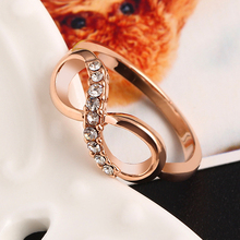 Fashion Alloy Rose Gold Color Zircon Ring