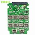"10 Micro SD To 22pin SATA 3.0 SSD RAID0 Card multiplier TF cards to 2.5"" SATA 6Gb/s adapter"