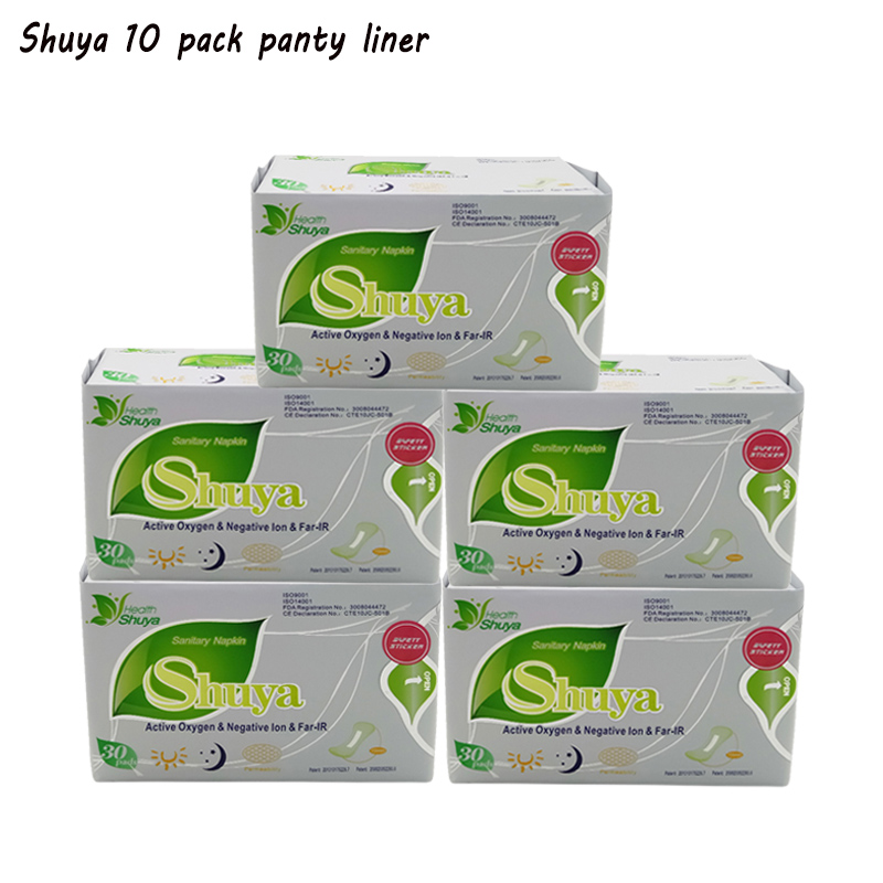 10 pack anion pads feminine organic sanitary pads cotton panty liners negative ion sanitary napkin Shuya menstrual pads