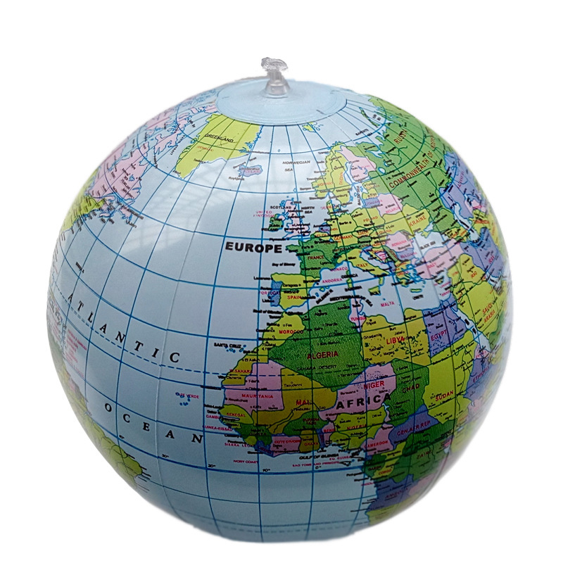 Inflate Globe Map Inflatable Earth World Teacher Beach Ball Geography Detailed Illustration Teaching Aid Toy