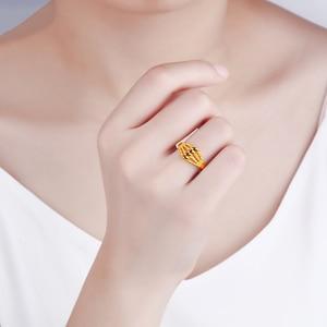 Image 5 - Jlzb 24 18k 純金リングリアル au 999 純金指輪エレガントなシャイニービュ高級流行の古典的なジュエリーホット販売新 2020