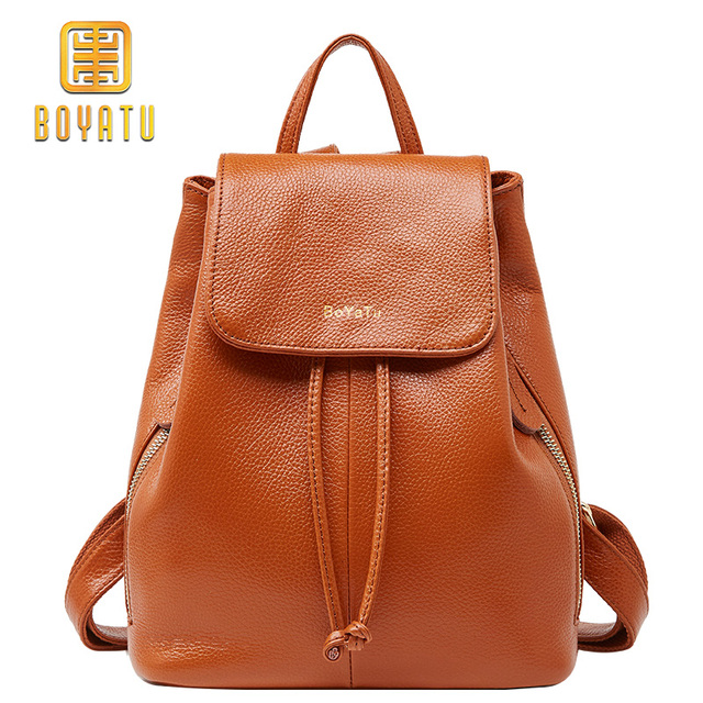 b4139e76ef8ca Small Genuine Leather Backpack Women Fashion School Backpack for Girl  Elegant Travel Shoulder Bag Rucksack Brand