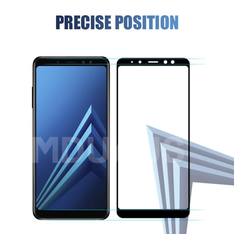 Image 4 - 9D verre de protection sur le pour Samsung Galaxy A3 A5 A7 2016 2017 A6 A8 Plus A9 2018 étui en verre trempé protecteur décran-in Protections décran de téléphone from Téléphones portables et télécommunications on AliExpress