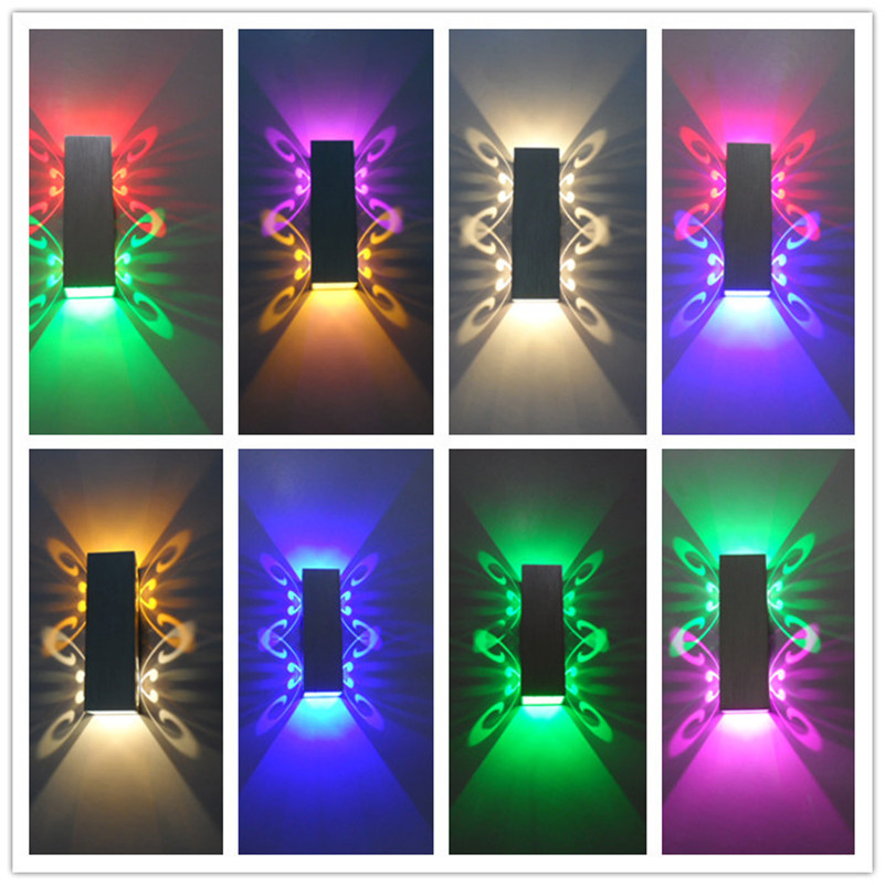 HTB1EzsQXGSs3KVjSZPiq6AsiVXa6 - Aluminum 2W led light  fixture Up and down led wall lamp batteryfly modern fashion wall light indoor decoration AC85-265V