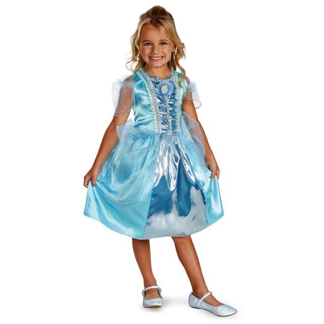 Kostuum Kopen Halloween.Us 20 14 Panice Kopen Cinderella Sparkle Kind Halloween Kostuum Voor Kinderen Meisjes Prinses Kleding Carnaval Fancy Dress In Panice Kopen