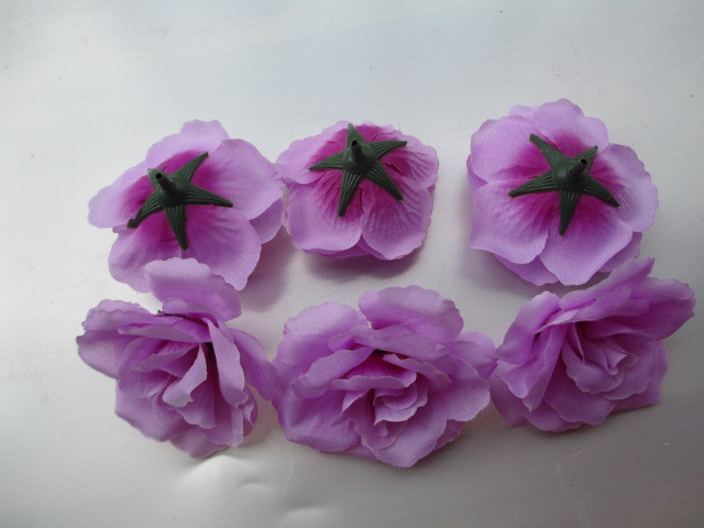 10 pz colore viola piccola rosa tea diy del fiore della rosa fiori ...