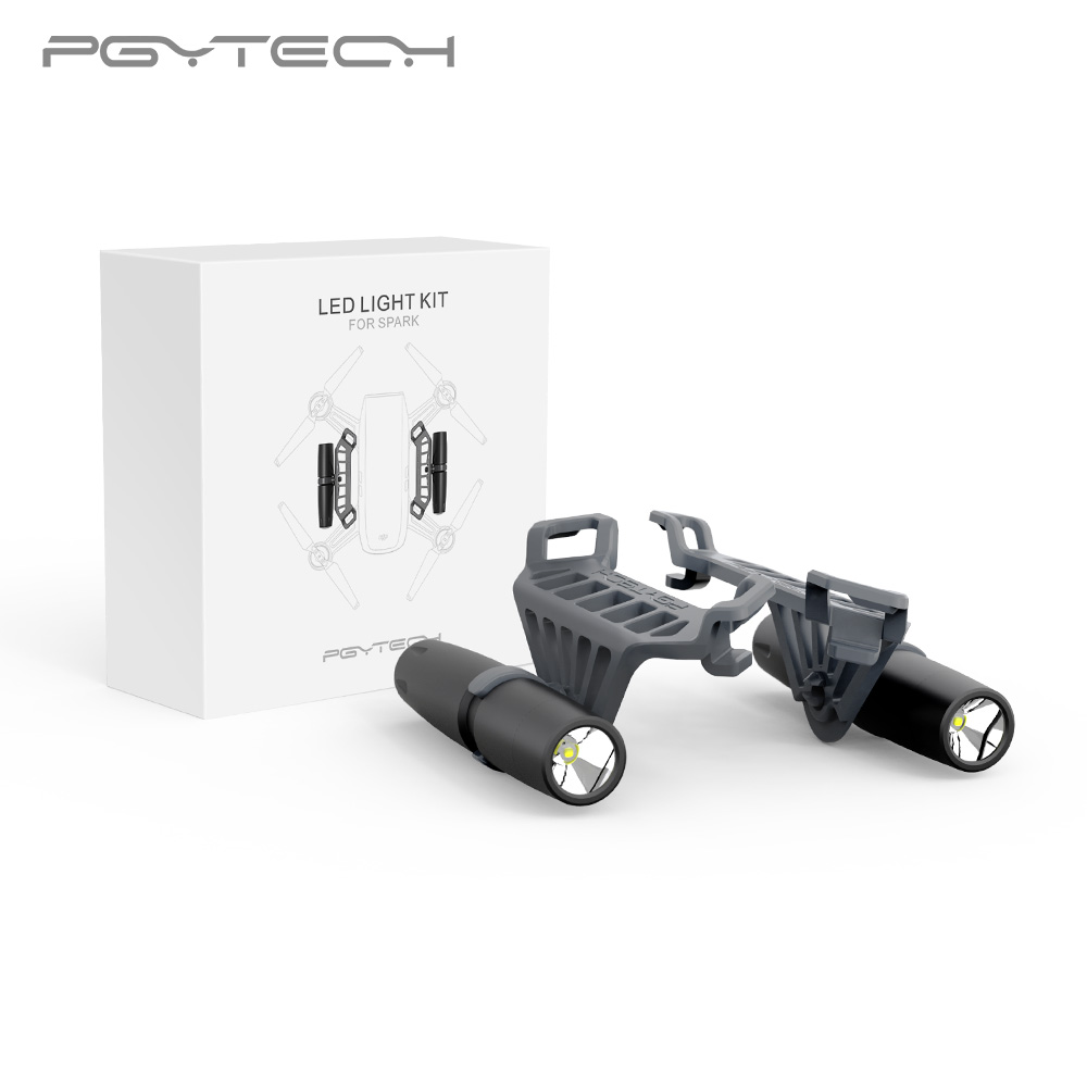 PGYTECH Night Flight LED Light for DJI Spark drone Accessories Not Include the Battery pgytech dji spark led light for dji spark portable night flight led light lighting drone accessories