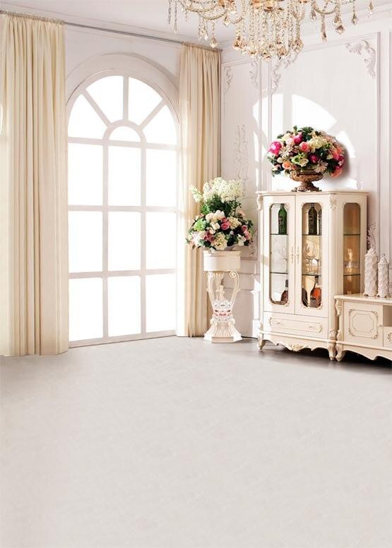 Custom vinyl print cloth flowers white house photography backdrops for wedding photo studio portrait backgrounds props