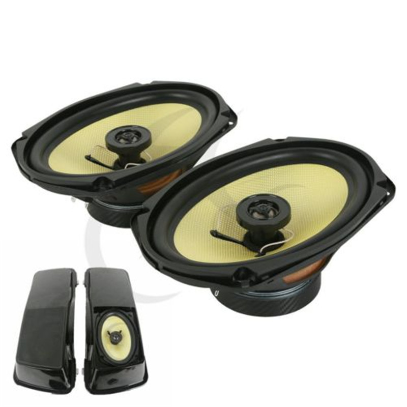A Pair 6x9 Moto Speaker For Harley Davidson Touring Models Saddlebag Lid 94-13 Electra Street Glide Road King Motorcycle 4 stretched hard saddlebag extension fit for harley touring models 94 13 12 road glide road king ultra street glide electra