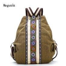Begutest повседневный рюкзак женщины рюкзак холст рюкзаки для девочек Дорожная сумка женские рюкзаки стиль Школьный рюкзак для девочек