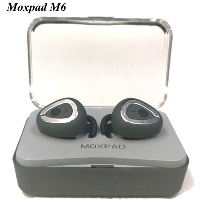 Новые moxpad M6 Беспроводной Наушники отделяя вкладыши Bluetooth 4.1 СПЦ Наушники музыке стерео гарнитуры с зарядом случае