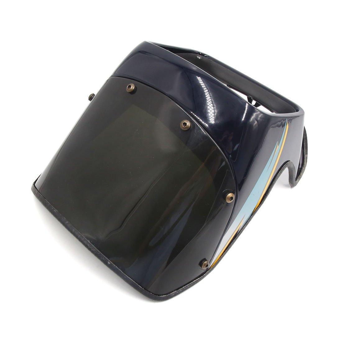 Uxcell noir en plastique moto phare couverture visière Instrument carénage masque pour GS125