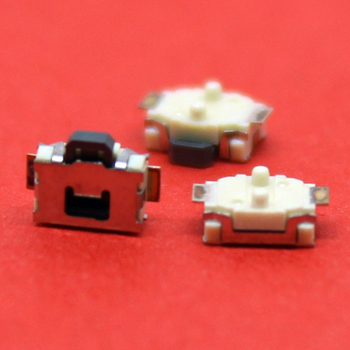 1x Little Turtle Switch SMD Tact Switch horizontal foil waterproof membrane 2 feet / P reset switch image