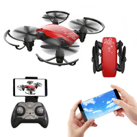 RC Drone Mini Foldable Portable Folding Selfie Drone FPV Pocket Quadcopters With Camera HD WIFI Altitude Hold Helicopter Gift