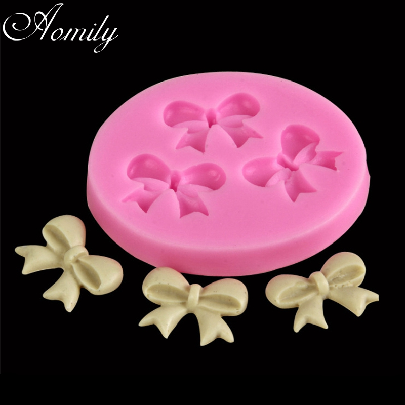 Home & Garden Industrious Aomily 3d Bowknot Shaped Silicon Chocolate Jelly Candy Cake Bakeware Mold Diy Pastry Bar Ice Block Soap Mould Baking Tools A Plastic Case Is Compartmentalized For Safe Storage Baking & Pastry Tools