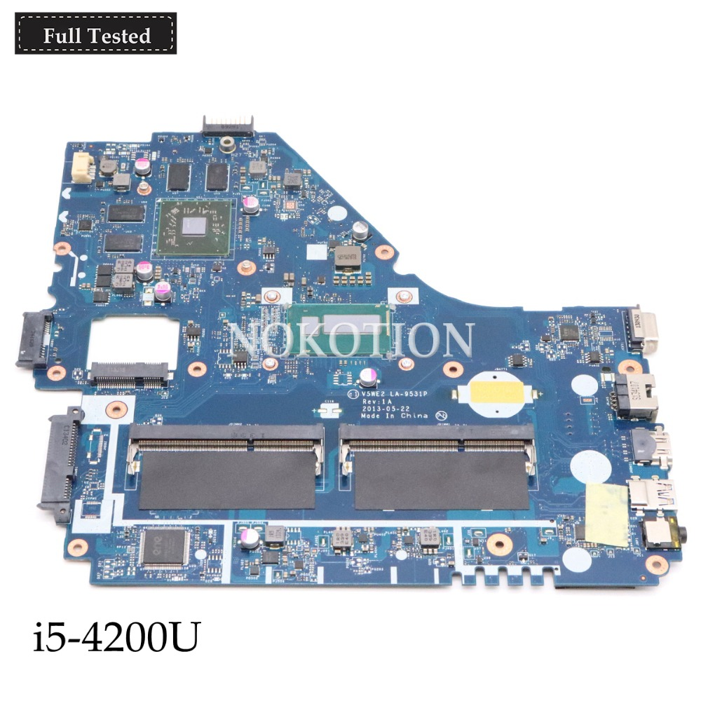 NOKOTION NBMFP11005 NB.MFP11.005 V5WE2 LA 9531P for acer aspire E1 572G MOTHERBOARD i5 4200U HM87 GMA HD5000 DDR3