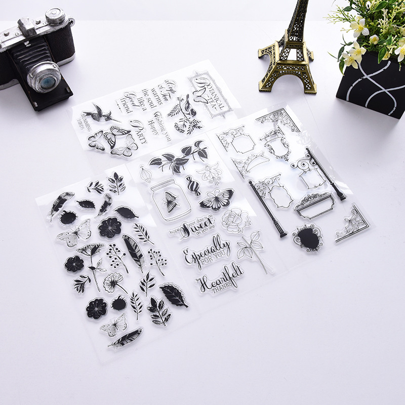 Flower Butterfly Bird World Silicone Rubber Clear Stamp Seal Scrapbooking Diary Christmas Card DIY Photo Album Making Craft new premium promotional yu europe d41x d341x flange rubber seal butterfly valves factory direct quality assurance